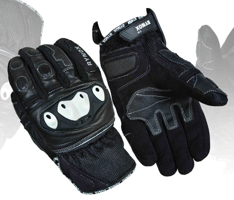 Rynox Rampage Pro Black, Riding Gloves, Rynox Gears, Moto Central