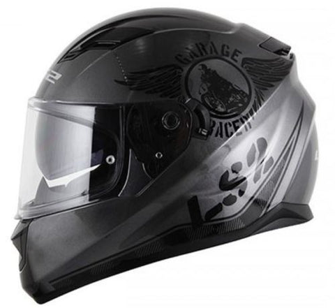 LS2 FF 320 Stream Garage Grey Black Matt Helmet, Full Face Helmets, LS2 Helmets, Moto Central