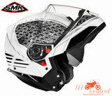 SMK Glide Sign 126 White, Flip Up Helmets, SMK, Moto Central