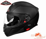 SMK Glide with Bluetooth Plain Matt Black MA200, Full Face Helmets, SMK, Moto Central