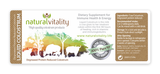 Liquid Colostrum bottle label by Natural Vitality