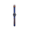 MILITARY INSPIRED WATCH STRAP-LIGHT BLUE, BLUE AND PURPLE AZTEC DESIGN