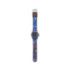 MILITARY INSPIRED WATCH STRAP- BLUE, WHITE MOONS