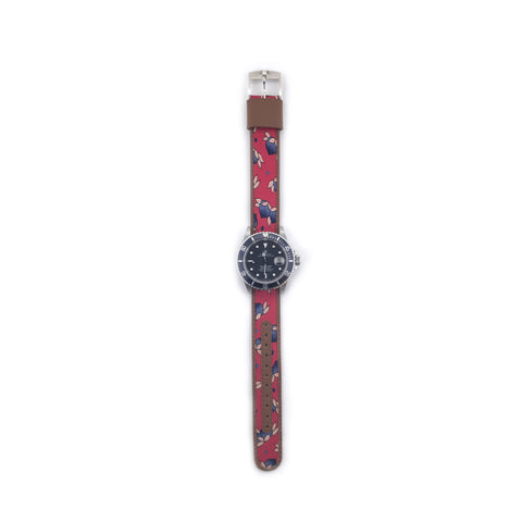 MILITARY INSPIRED WATCH STRAP- RED, BLUE ACORNS