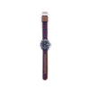MILITARY INSPIRED WATCH STRAP-NAVY BLUE, RED HORSESHOES