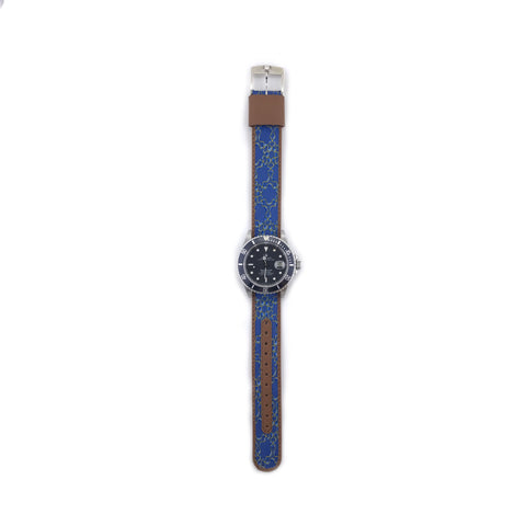 MILITARY INSPIRED WATCH STRAP-BLUE, RIBBON
