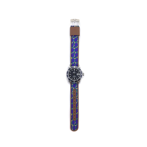 MILITARY INSPIRED WATCH STRAP-PURPLE, GREEN ROPES