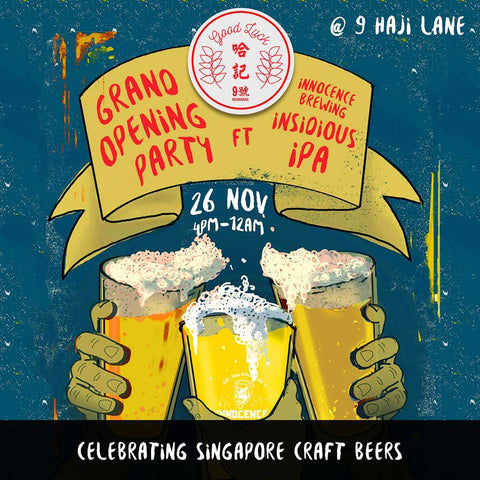 Good Luc Beerhouse Grand Opening Party Poster