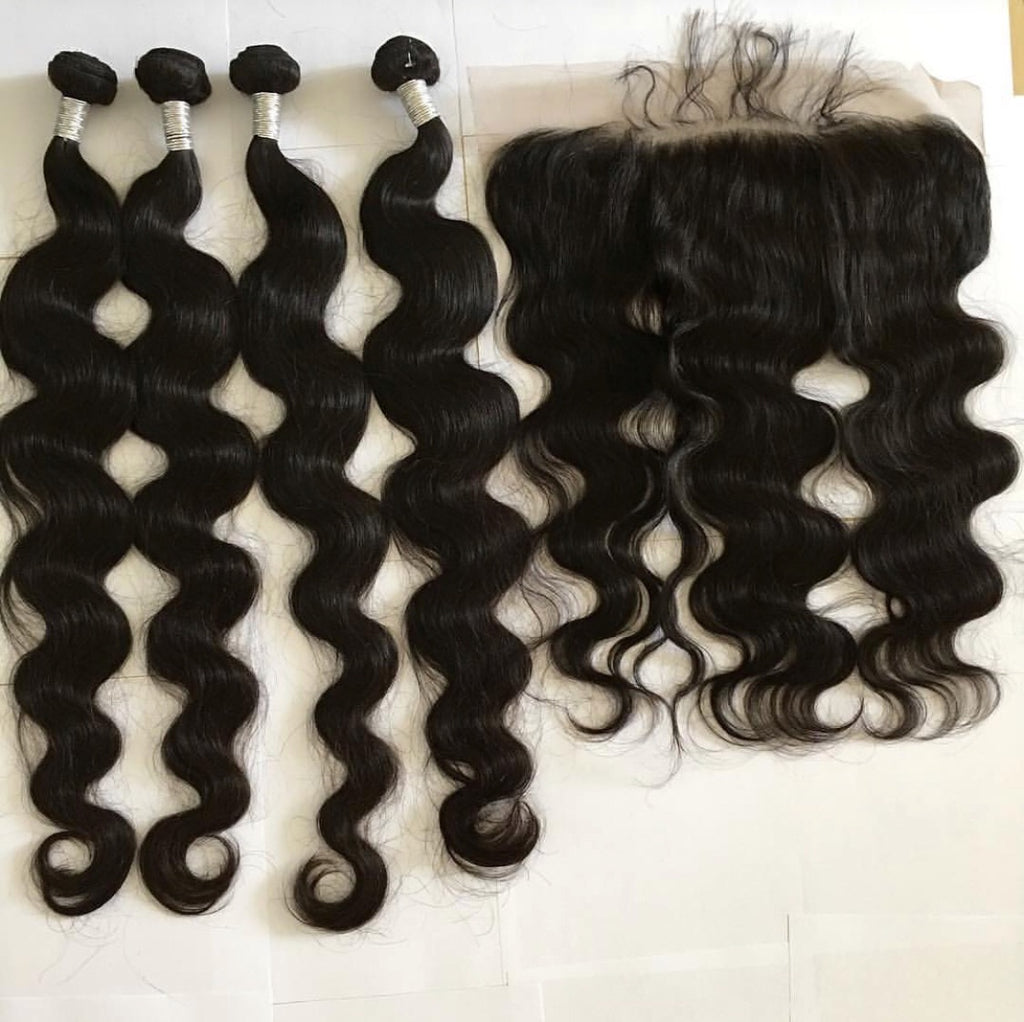 4 Bundles + 1 Frontal