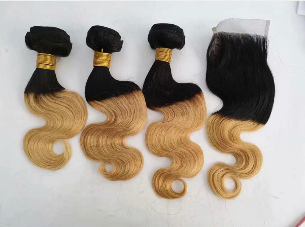 Brazilian Body Wave Honey Ombré
