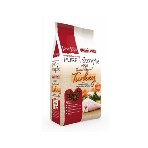 Lovejoys Lovejoys Pure & Simple Grain Free Farm Reared Turkey 12kg
