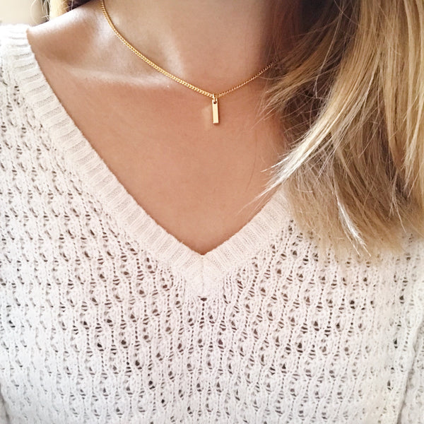 Dainty Bar Chain Choker