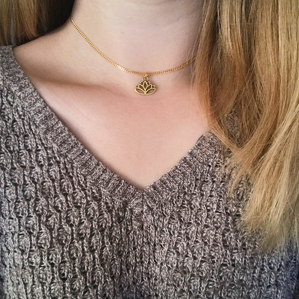 Lotus Flower Chain Choker
