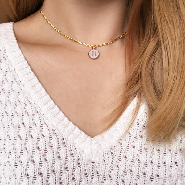 Lux Zodiac Sign Chain Choker