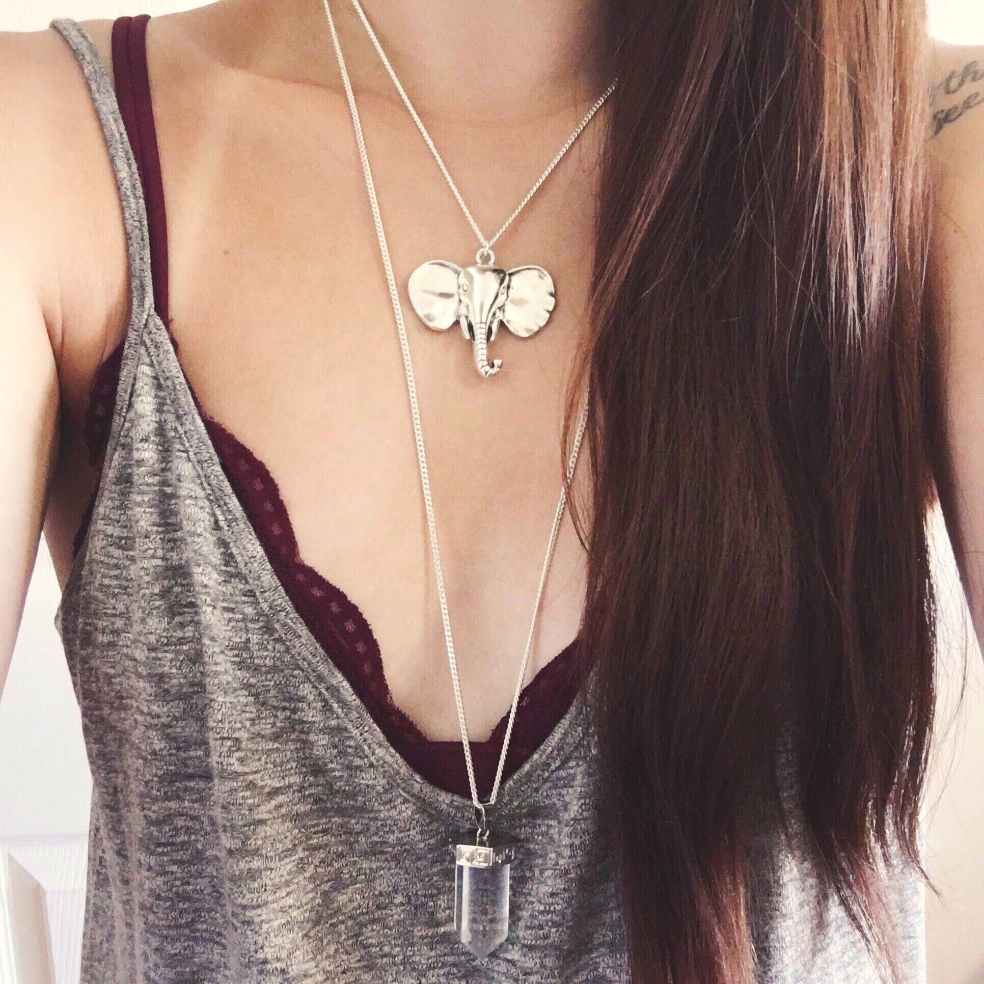 Elephant Head Necklace