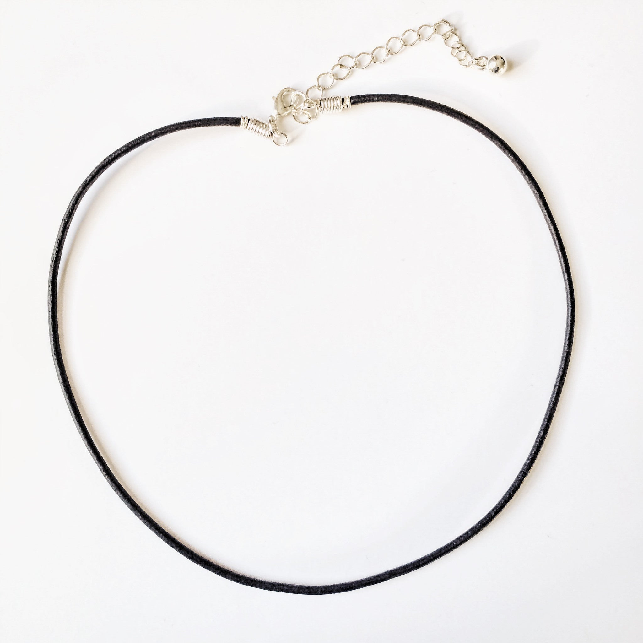 Plain Black Cord Choker