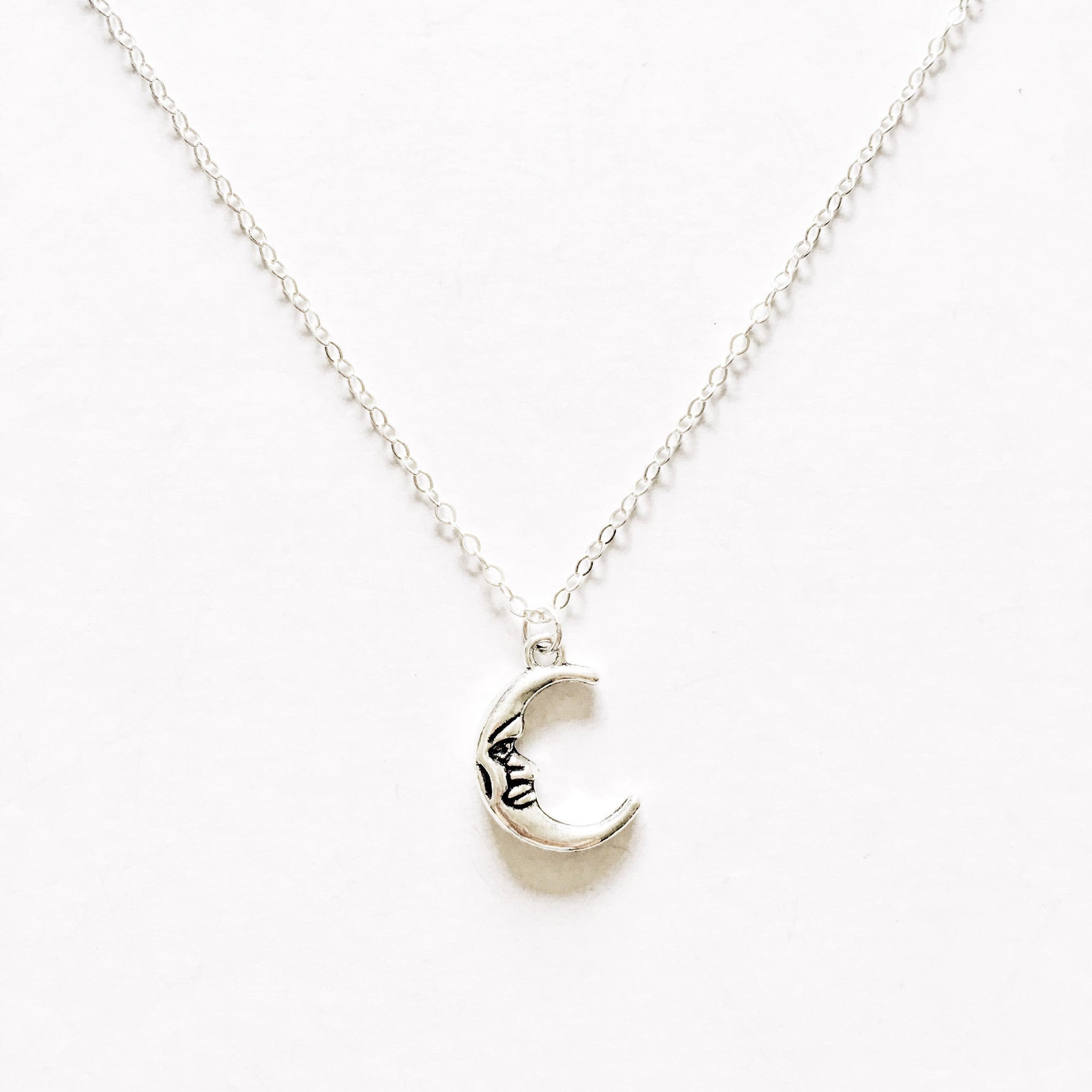 Waning Crescent Necklace