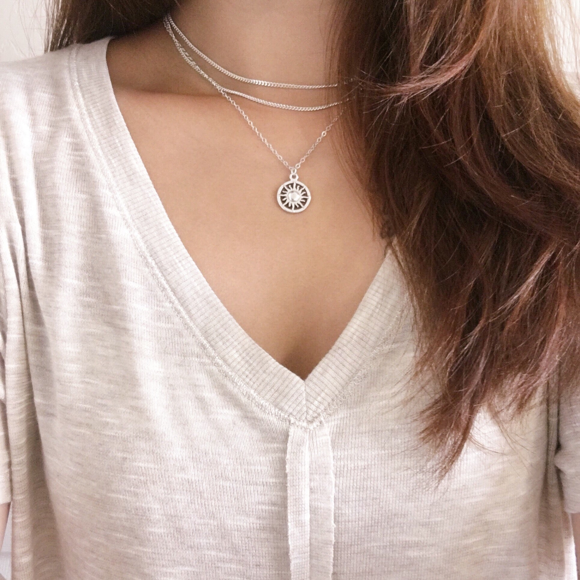 Double Layer Choker - Silver