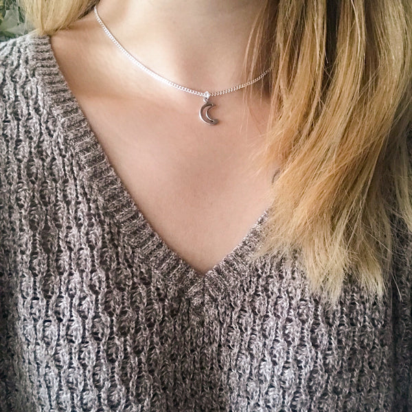 Open Moon Chain Choker