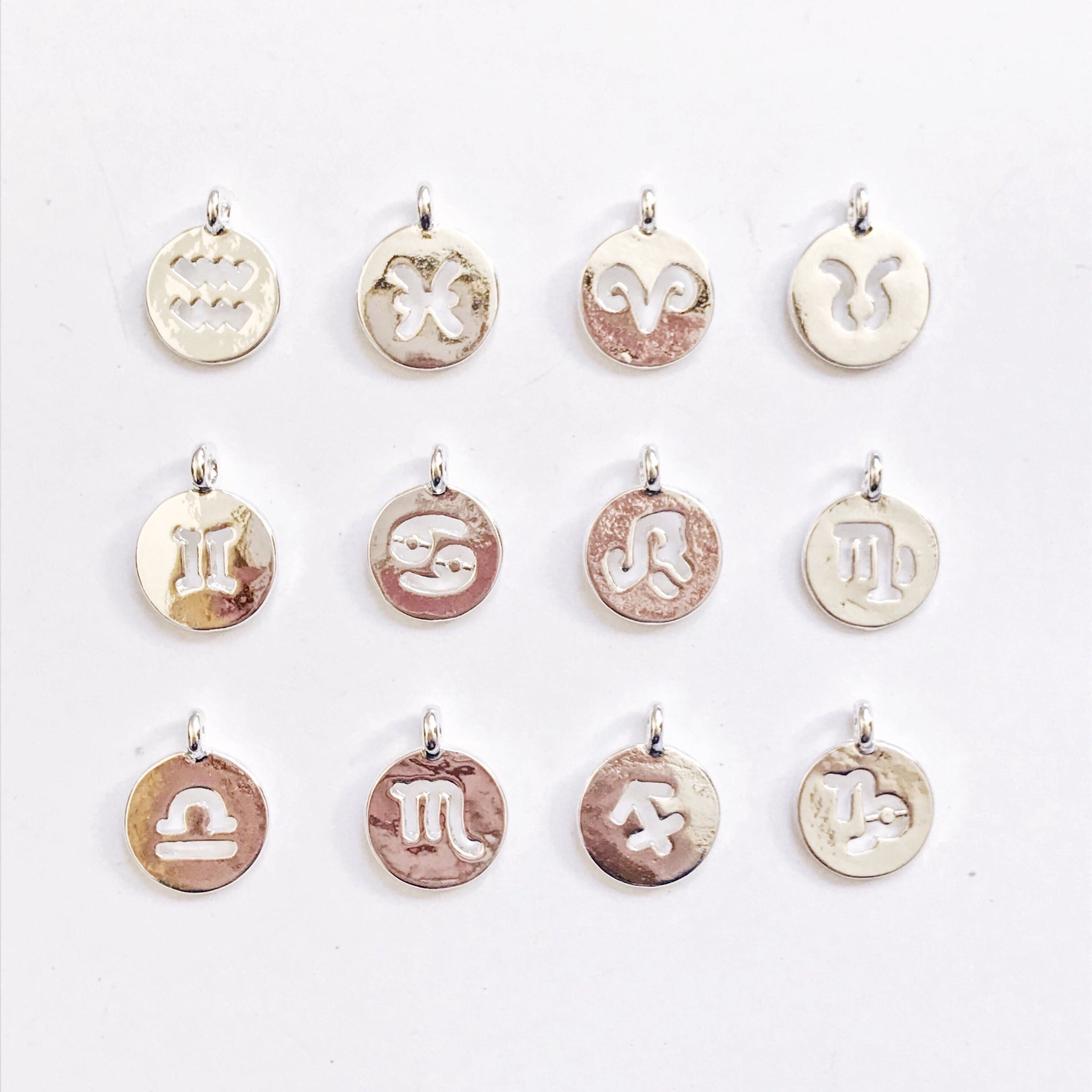 Hollow Zodiac Sign Necklace
