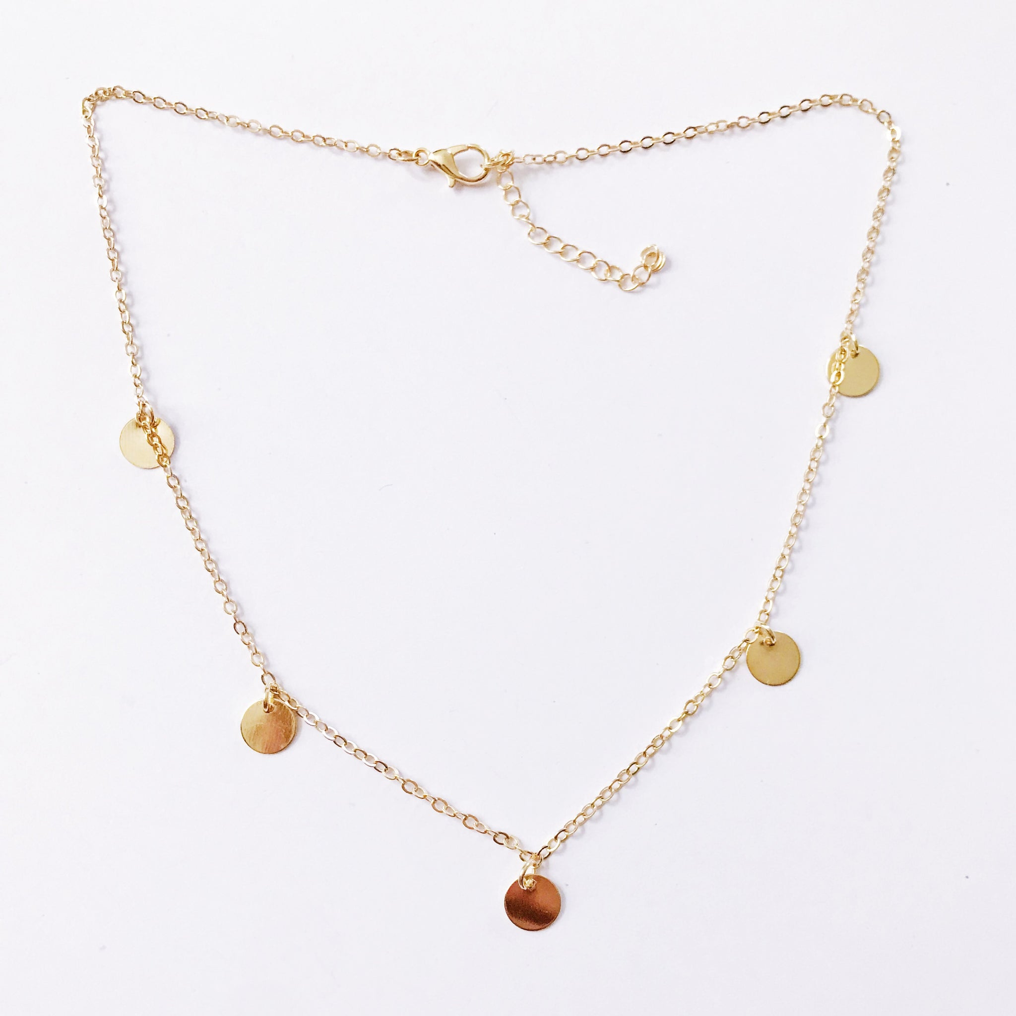 Boho Dangle Necklace - Gold