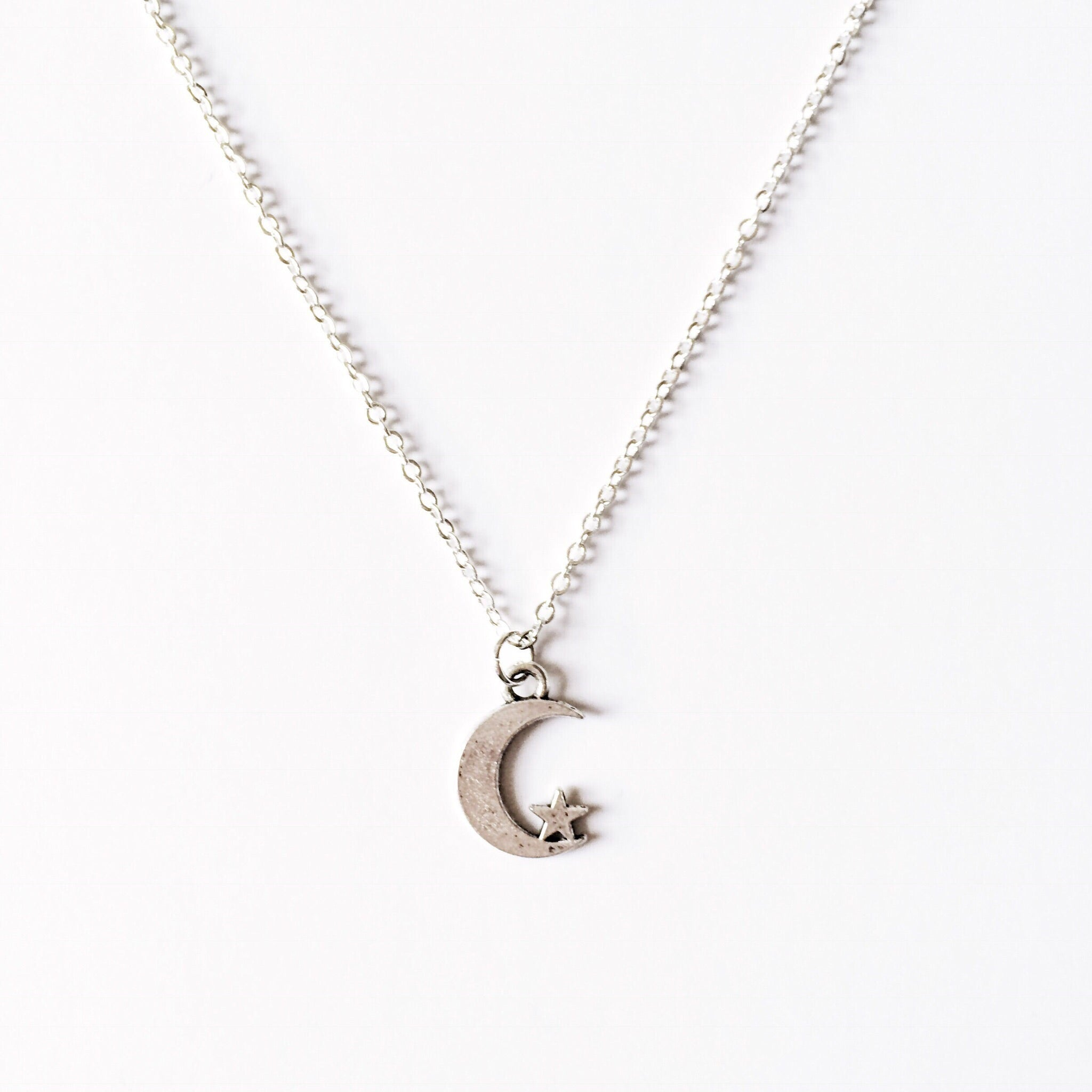 Moon & Star Chain Choker