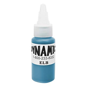 Dynamic Blue Tattoo Ink - 28ml (1oz) - SINGLE NEEDLE TATTOO