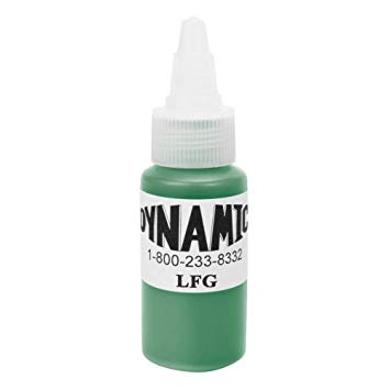 Dynamic Leaf Green Tattoo Ink - 28ml (1oz) - SINGLE NEEDLE TATTOO
