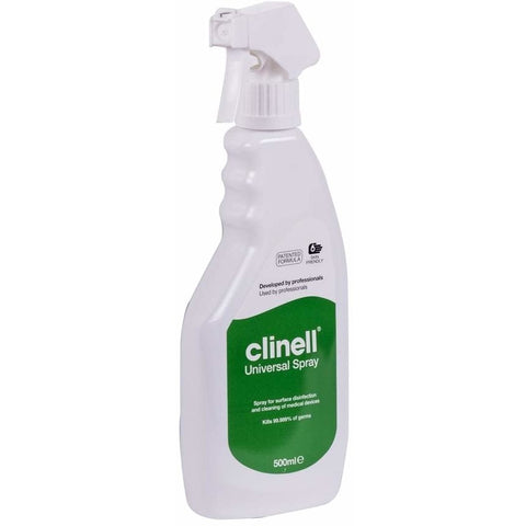 Clinell Universal Disinfectant Spray 500ml - SINGLE NEEDLE TATTOO