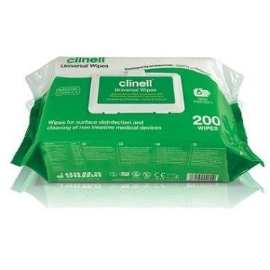 Clinell Universal Sanitising Wipes x 200 - SINGLE NEEDLE TATTOO