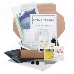 Hand Poke Tattoo Kit - Single - SINGLE NEEDLE TATTOO