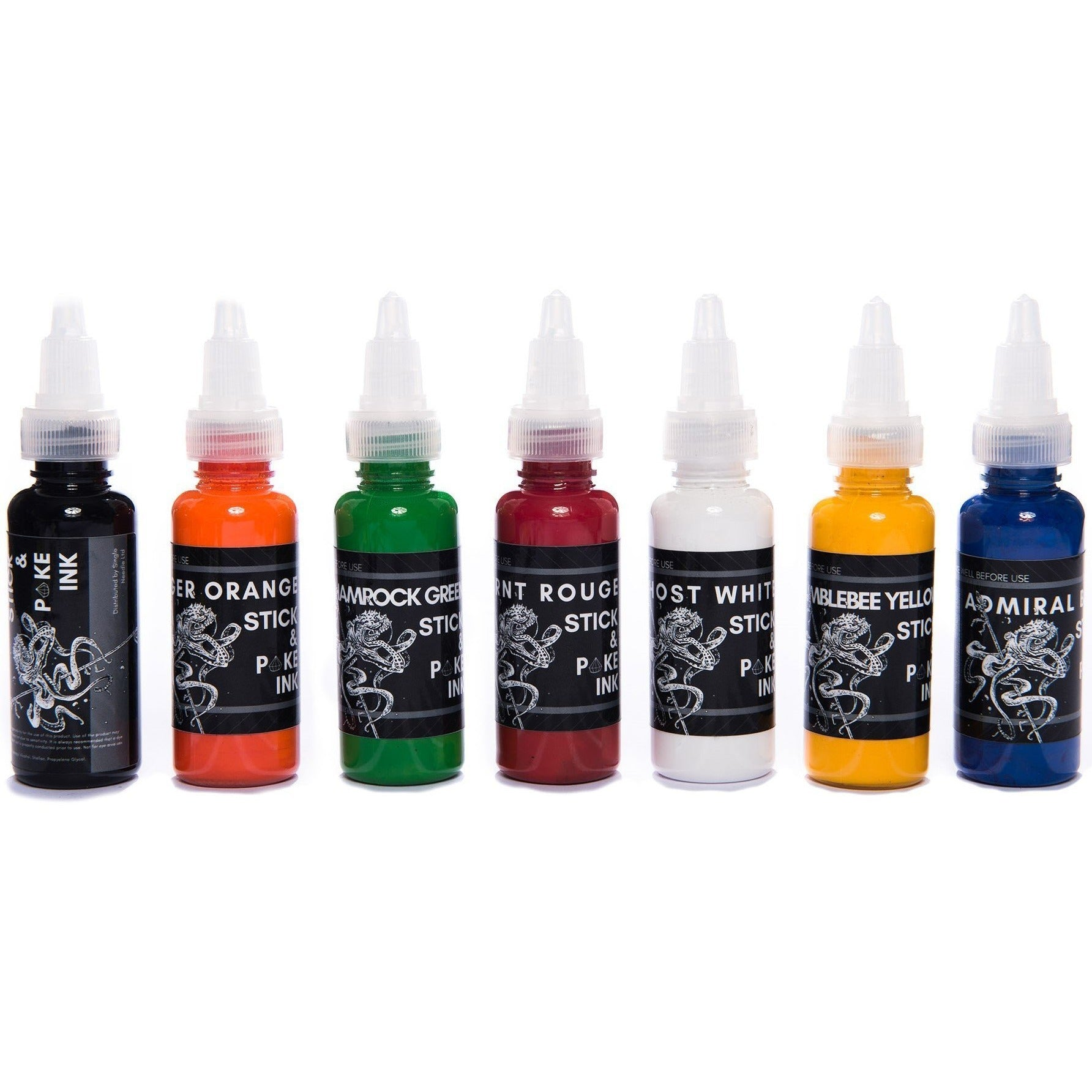 Stick & Poke Full Tattoo Ink Set - 15ml/ 30ml-SINGLE NEEDLE-15ml Ink Set-None-SINGLE NEEDLE Stick & Poke Tattoo