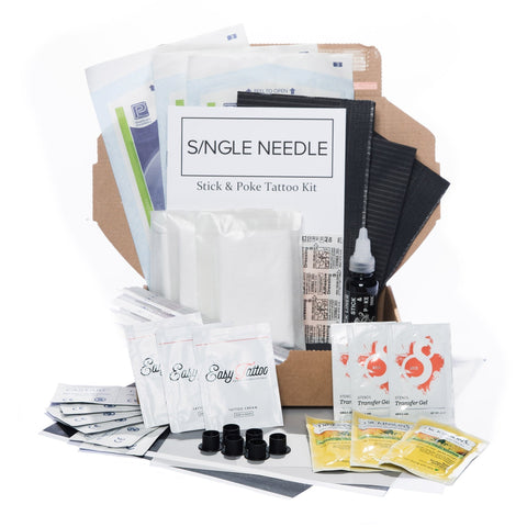 Hand Poke Tattoo Kit - Triple-Tattoo Complete Kits-Single Needle-Small-None-SINGLE NEEDLE Stick & Poke Tattoo
