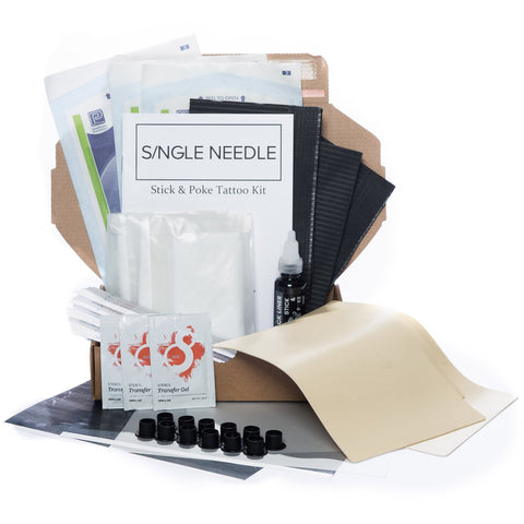 Hand Poke Practice Kit - Triple-Tattoo Complete Kits-Single Needle-Small-None-SINGLE NEEDLE Stick & Poke Tattoo
