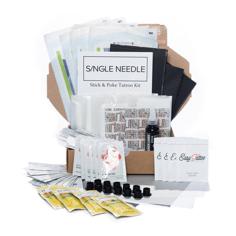 Hand Poke Festival Tattoo Kit - SINGLE NEEDLE TATTOO