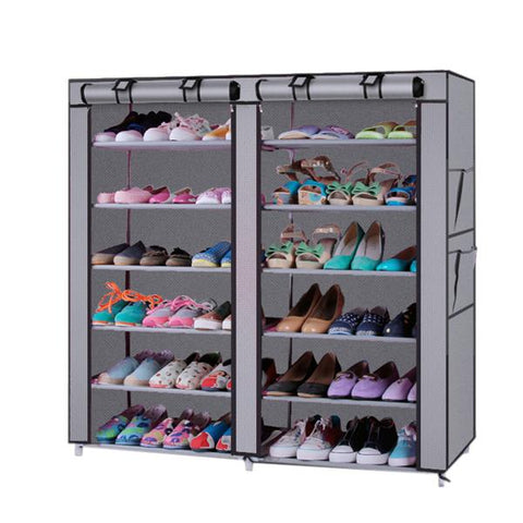6-Tier Non-woven Fabric Shoe Rack Storage & Cabinet Cover