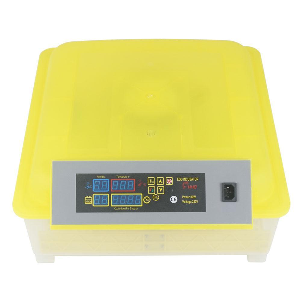 48-Egg Practical Fully Automatic Poultry Incubator (US Standard) Yellow & Transparent
