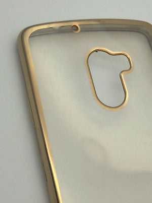 MEEPHONE COVER CASE WITH GOLDEN EDGES FOR LENOVO K4 NOTE