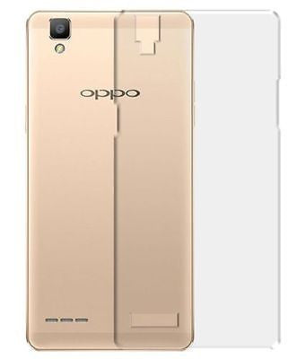 TRANSPARENT RUBBERISED BACK COVER FOR OPPO F1
