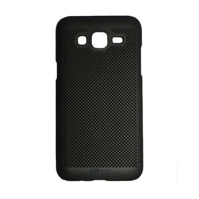 BLACK MATTE HOLLOW NET SOFT SILICONE COVER CASE FOR SAMSUNG GALAXY J5