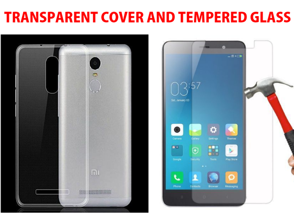 SET OF (COVER AND TEMPERED GLASS) FOR REDMI NOTE 3 (XIAOMI)