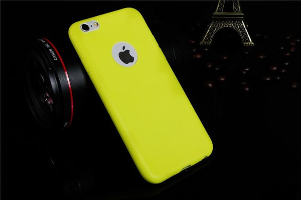 CANDY SOFT SILICONE BACK COVER CASE FOR APPLE IPHONE 5/5S, 6/6S, 6S PLUS