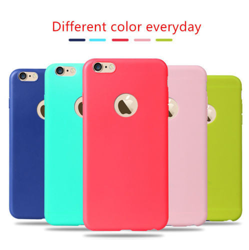 CANDY SOFT SILICONE RUBBERISED BACK COVER CASE FOR IPHONE 5 /5S (APPLE)