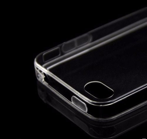 TRANSPARENT SILICONE RUBBERISED BACK COVER CASE IPHONE 4 /4S (APPLE)