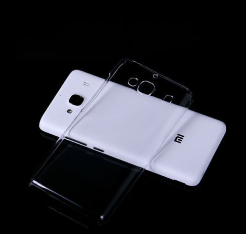 LUXURY Hard Plastic Crystal Clear Transparent Back Cover Case for Redmi 2S Prime