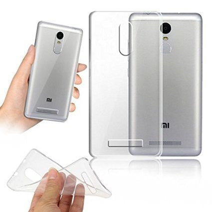 TRANSPARENT RUBBERISED BACK COVER FOR REDMI NOTE 3 (XIAOMI)