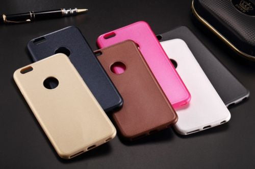 PREMIUM LUXURY LEATHER LOOK SILICONE BACK COVER CASE FOR APPLE IPHONE 6 /6S