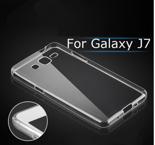 TRANSPARENT RUBBERISED BACK COVER FOR SAMSUNG GALAXY J7 J700