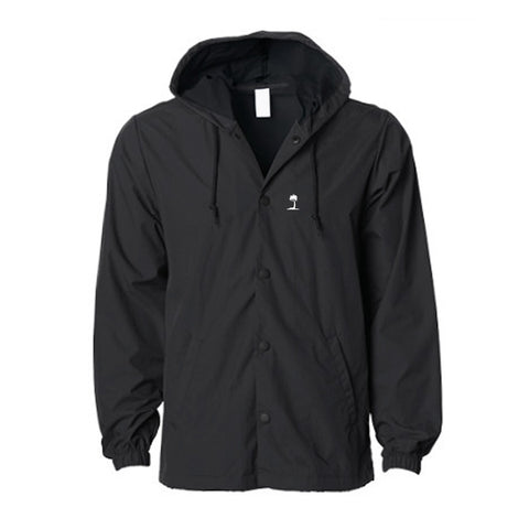 Black PV Hooded Coach Jacket