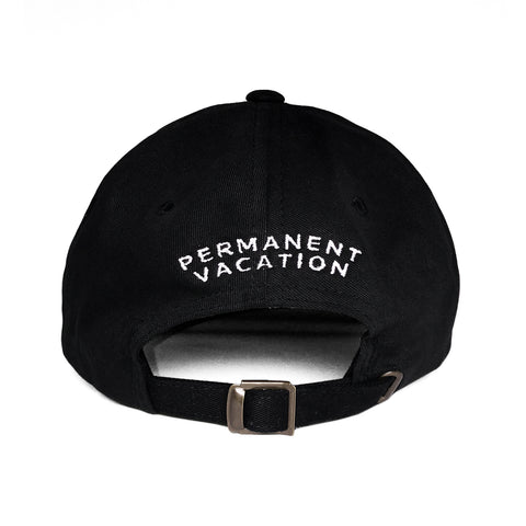 rear view dad hat black